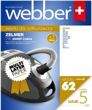 Worki Webber Zelmer 2000/2010 /plus 2 filtry/ (62 multi layer paper)