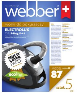 WEBBER ELECTROLUX S-BAG/E41 (87 MULTI LAYER PAPER)