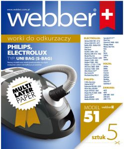 Worki Webber Electrolux Philips UNI BAG (51 multi layer paper) 02WWUNIBAG