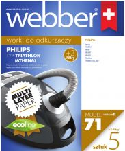 Worki Webber Philips Triathlon/Athena plus 2 filtry/ (71 multi layer paper)